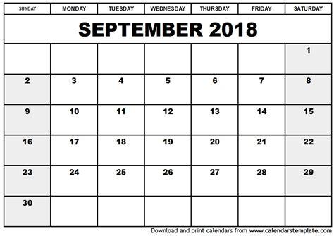 printable monthly calendar 2018 portrait september 2018 calendar printable portrait