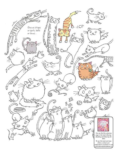 doodle cat free pin by meinlilapark on paper printables