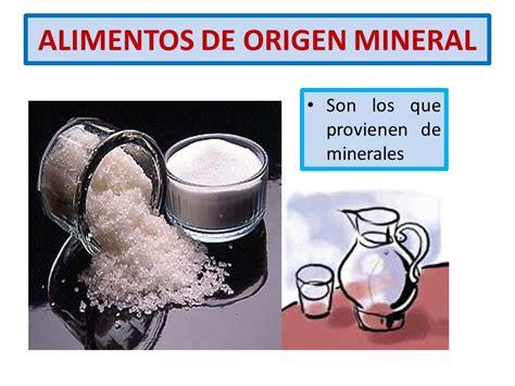 origen de los alimentos mineral los alimentos florentina cifuentes p ppt video online