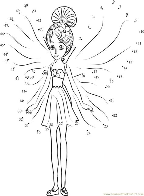 barbie printable dot to dot barbie thumbelina dot to dot printable worksheet connect