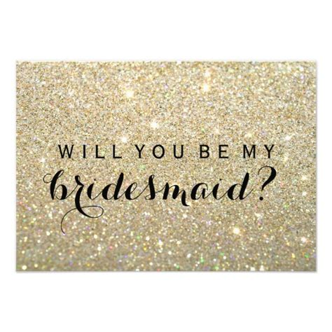 will you be my bridesmaid card template will you be my bridesmaid gold fab card zazzle