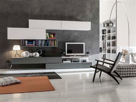 immagini arredamento soggiorno soggiorno moderno bianco con pensili laccati opaco