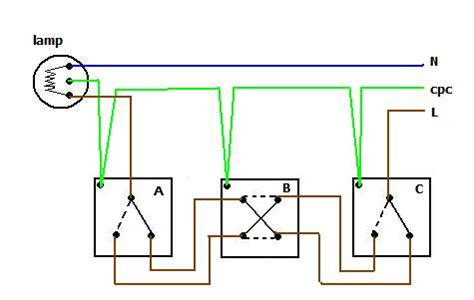 two way and intermediate lighting circuit diagram best