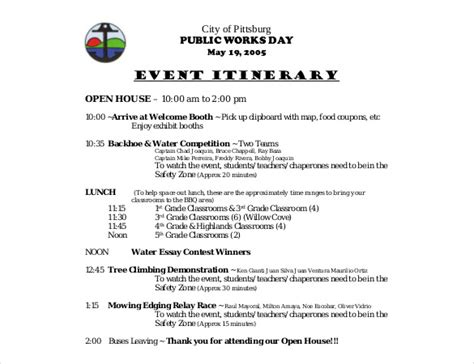 birthday itinerary template birthday itinerary template 10 word pdf documents