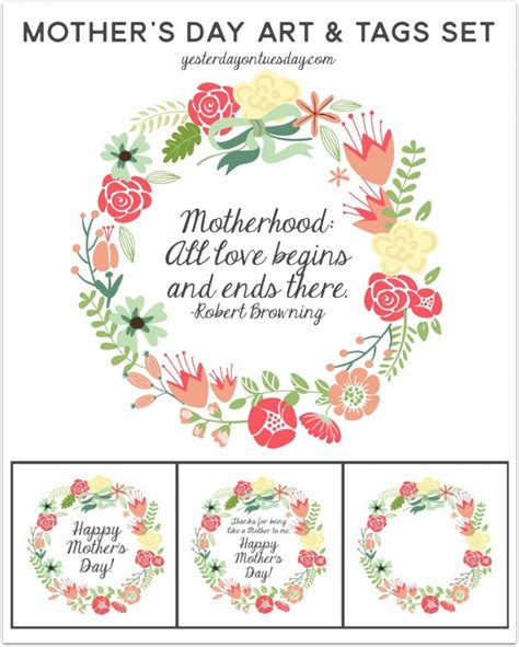 free printable gift tags mothers day mother s day printable day art and tags a quick and easy