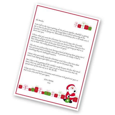 personalised letter from santa charity personalised gifts for just the right gift uk