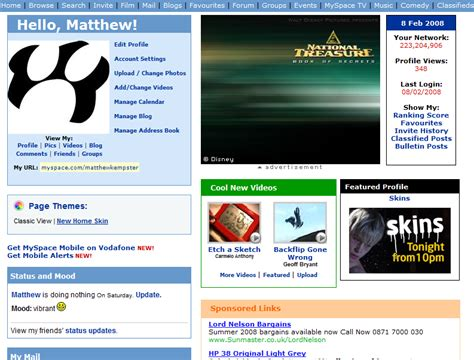 Myspace Pages Of And by Myspace Gets Funky With Homepage Themes Angryrhino