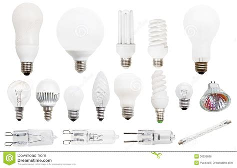 Compact Led Light Bulbs Incandescent Compact Fluorescent Halogen Ls Royalty Free Stock Image Image 36655866