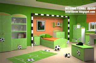 delightful Boys Football Bedroom Accessories #3: cool-sport-kids-bedroom-themes-football-green.jpg