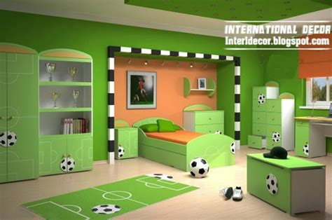 football bedrooms cool sports kids bedroom themes ideas and designs