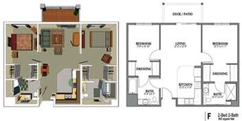 2 bedroom apartment 800 square rooms
