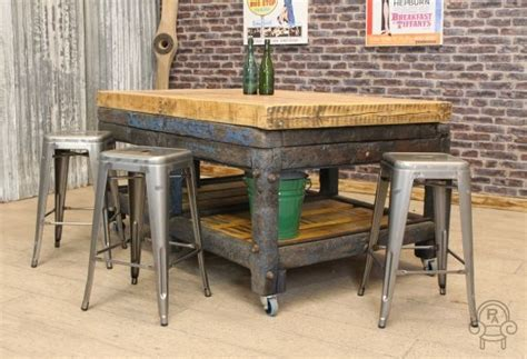 industrial style kitchen islands industrial kitchen island vintage butcher s