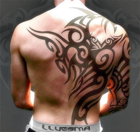 tribal tattoo for men the cool artistic ones tattoo cool tribal back wing tattoos for men by vaax27 on deviantart