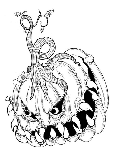Scary Halloween Coloring Page Coloring Home Scary Coloring Pages