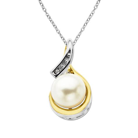 cultured freshwater pearl and accent pendant