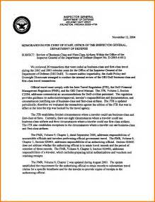 Business Letters Reports business trip report template inspector general department by vhc18294