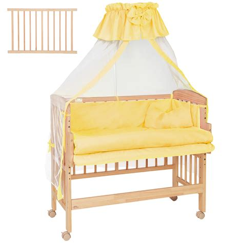 Bedside Crib Uk by Wooden Bedside Cot Variable Height Nursery Furniture Baby