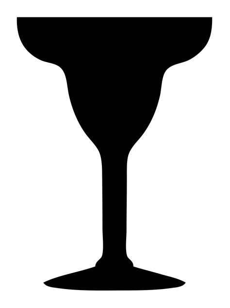 margarita glass svg cocktail glass silhouette clipart best