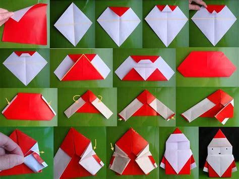 Origami Santa - wonderful diy mini origami santa
