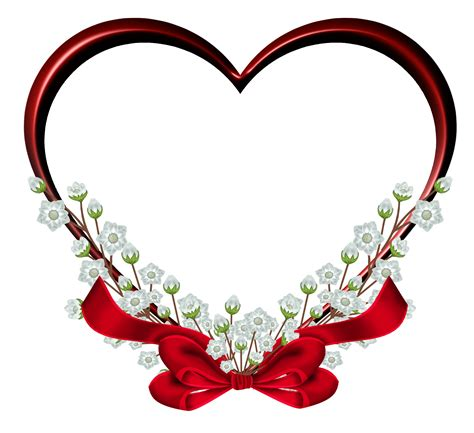 picture designs transparent red heart frame decor png clipart clipart