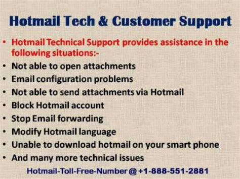 hotmail help desk phone number tech support contact toll