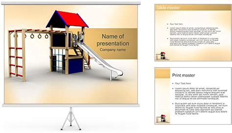 Playground Powerpoint Template Backgrounds Id 0000001297 Smiletemplates Com Playground Template