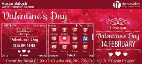 nokia x2 heart themes valentine s day themes for nokia series 40 devices