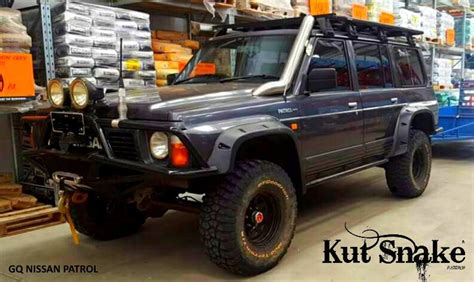 nissan patrol 1990 modified kut snake abs flares for nissan patrol gq 1990 1997 ebay