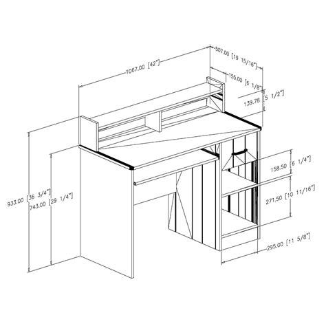 standard desk measurements standard computer desk size