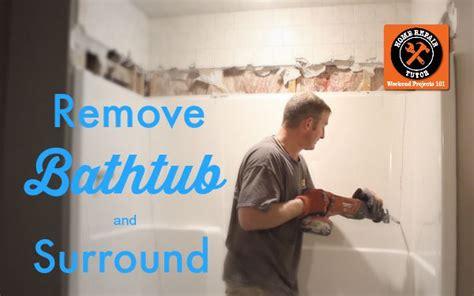 how to repair fiberglass bathtub how to remove a fiberglass bathtub and surround home repair tutor