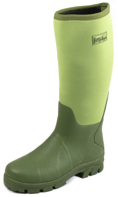 fish boots michigan neoprene waterproof wellington muck field fishing