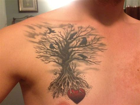 life tattoos for men 50 tree designs for and
