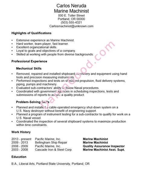 Ndt Trainee Sle Resume by Marine Corps Resume Exles Exles Of Resumes