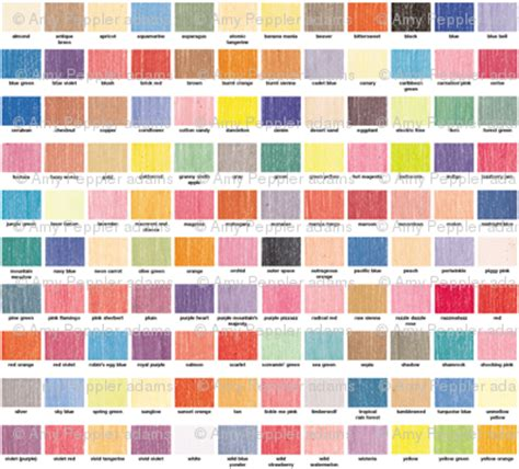 crayola color chart 120 colors color chart palette crayola crayons fabric