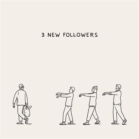 witty illustrations turn everyday social media