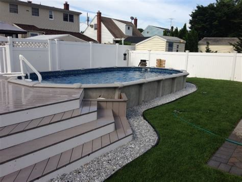 Boundary Wall Design 40 uniquely awesome above ground pools with decks