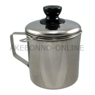 Saringan Minyak Serbaguba Stainless Steeldiameter 14cm peralatan dapur akebonno pot md2 tempat minyak sisa