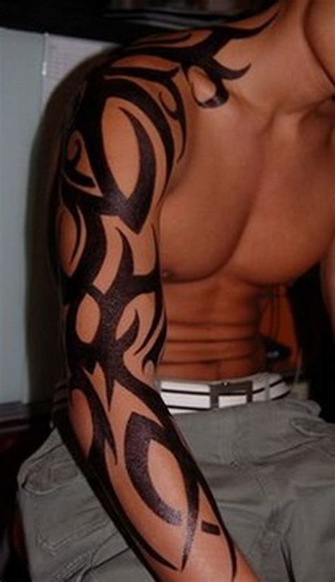 tribal flame sleeve tattoo tribal sleeve 2015