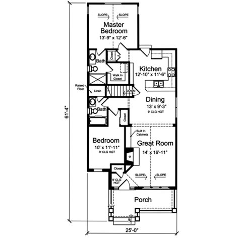 Narrow Lot Ranch House Plans by House Plans Drawn For The Narrow Lot By Studer Residential