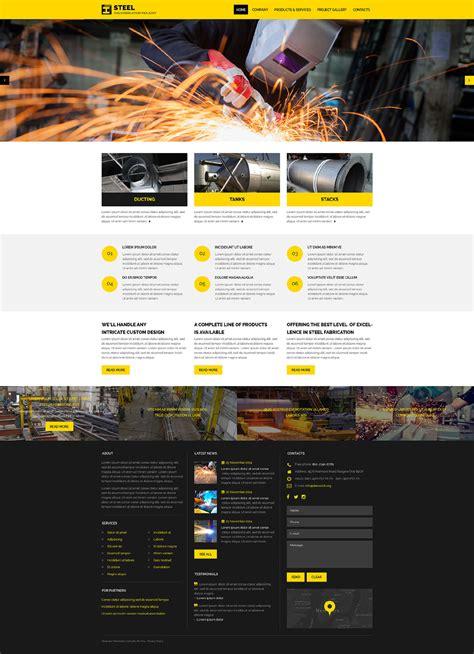 Industrial Responsive Website Template 57623 Industrial Responsive Website Templates Free