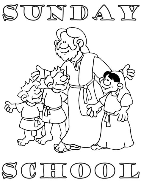 Free Sunday School Coloring Pages For Coloring Home