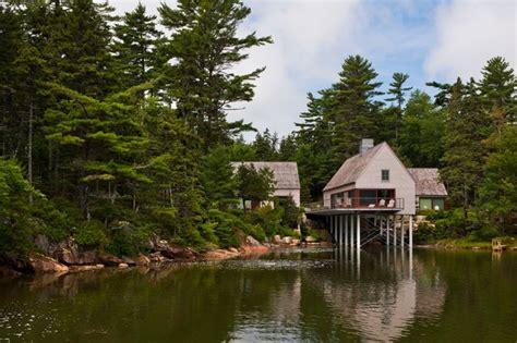 lake house maine pond house transitional exterior portland maine by elliott elliott architecture