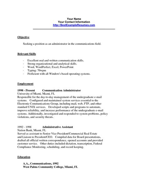 excellent communication skills resume exle resume communication skills resume badak