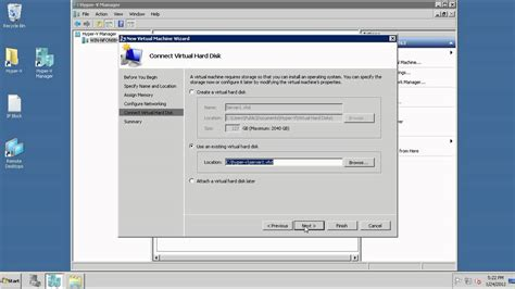 create a hyper v vm template and make your job easier