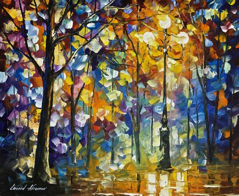 famous wall paintings the light of magic palette knife oil painting wall art