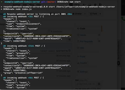 node js tutorial exles demos github respoke exle webhook nodejs server a node js