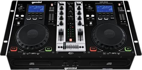 gemini console gemini cdm 3650 dual scratch cd mixer media workstation