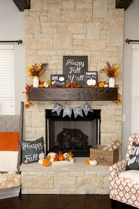 exciting fall mantel decor ideas shelterness