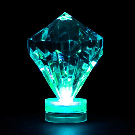 teal submersible diamond led light