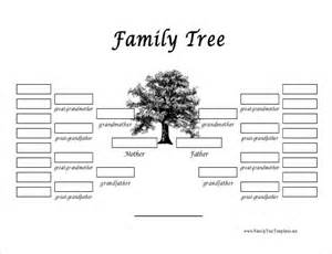 Picture Of A Family Tree Template by Family Tree Template 37 Free Printable Word Excel Pdf
